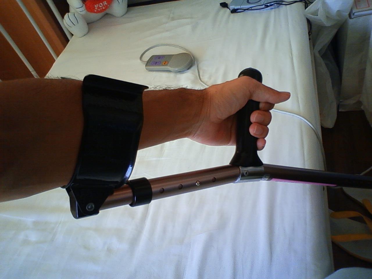 入院31日目(10/23) 杖の装備方法