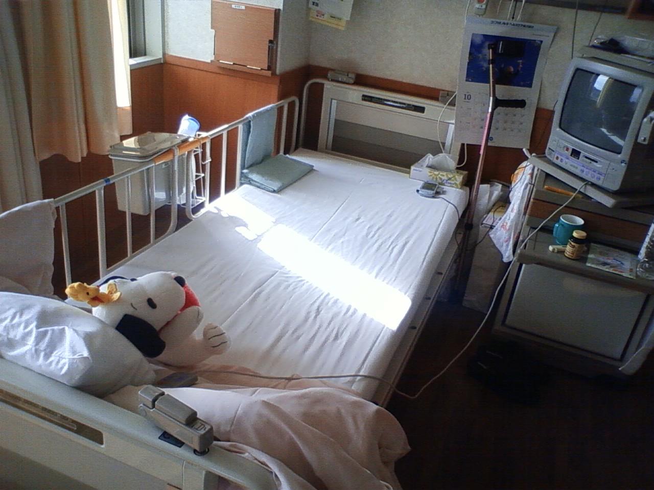 入院32日目(10/24) 寒くなってきました